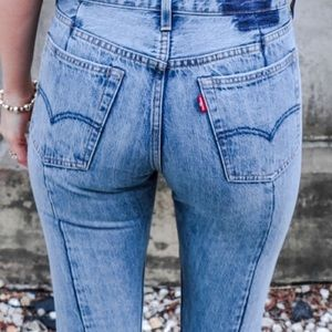 NWT Levi's Altered 501 high rise skinny distressed